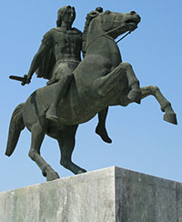 Statue of Alexander the Great in Thessalonica at My Favourite Planet