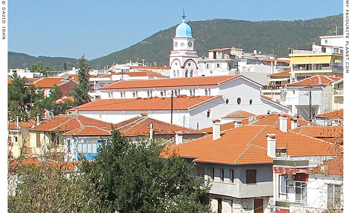 The church of Agios Nikolaos from the southwest edge of Polygyros, Halkidiki, Macedonia, Greece at My Favourite Planet
