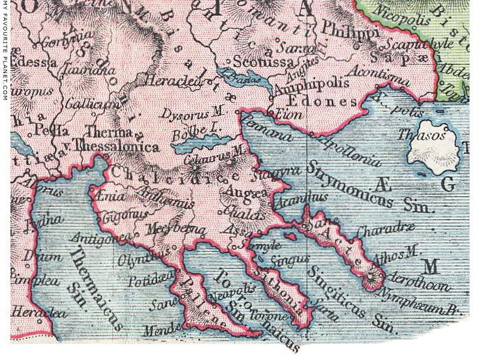 Map of ancient Halkidiki, Macedonia, Greece by Samuel Butler at My Favourite Planet