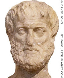 Head of Aristotle from a double-headed herm, found in Athens