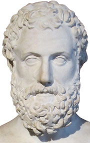 Marble portrait of the Greek playwright Aeschylus at My Favourite Planet