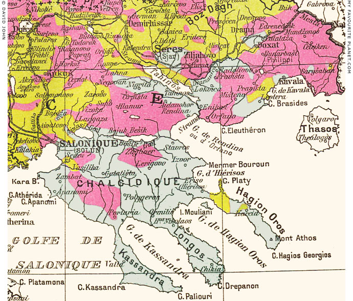 Ethnographic map of Macedonia, 1914