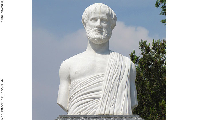 Statue of Aristotle of Stageira in Olympiada, Halkidiki, Macedonia, Greece at My Favourite Planet