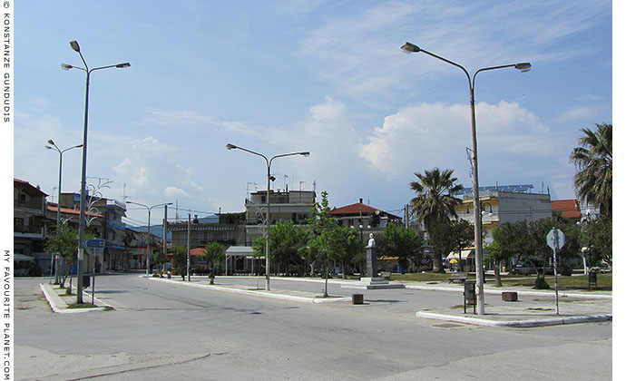 The main square of Olympiada village, Halkidiki, Macedonia, Greece at My Favourite Planet
