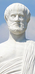 Statue of the Greek philosopher Aristotle in Olympiada, Halkidiki, Macedonia, Greece at My Favourite Planet