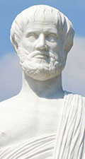 Statue of the Greek philosopher Aristotle in Olympiada - Stageira, Halkidiki, Macedonia, Greece at My Favourite Planet