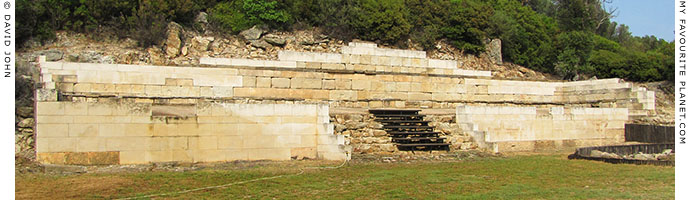 The Classical stoa of Stageira's agora, Halkidiki, Macedonia, Greece at My Favourite Planet