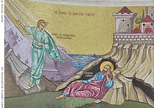 The man of Macedonia appears to Saint Paul in his vision at Troas