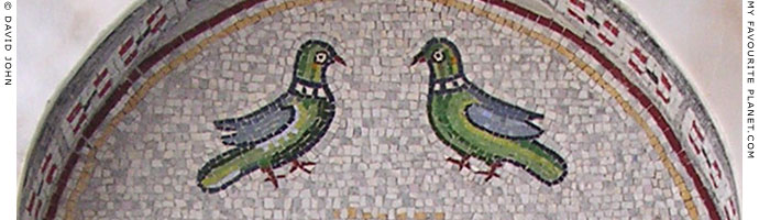 A mosaic of doves at the monument to Saint Paul the Apostle in Veria, Macedonia, Greece at My Favourite Planet