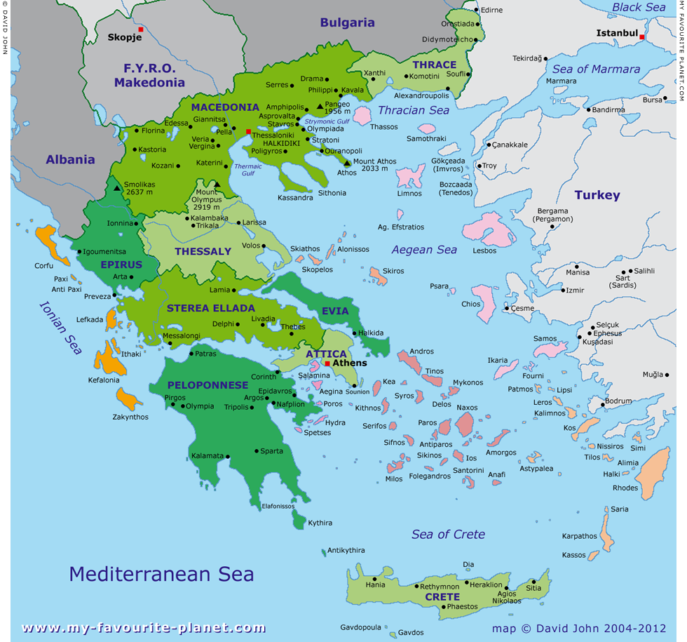 Large interactive map of Greece