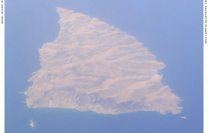 Aerial view of Agios Efstratios, Northern Aegean islands, Greece at My Favourite Planet