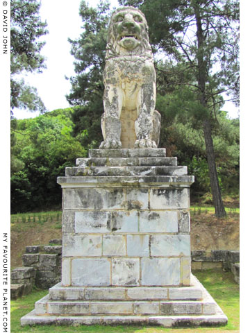 The Lion of Amphipolis statue, Macedonia, Greece at My Favourite Planet