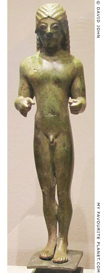 Bronze kouros statuette from Samos in the Altes Museum, Berlin at My Favourite Planet