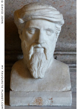 Bust of Pythagoras in Rome at My Favourite Planet