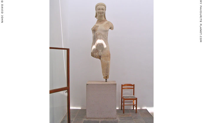 Kouros statue, Samos Archaeological Museum, Vathi, Samos island, Greece at My Favourite Planet