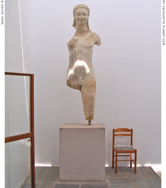 The smaller kouros statue in the Samos Archaeological Museum, Vathi, Samos island, Greece at My Favourite Planet