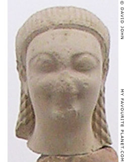 The head of the smaller kouros in the Samos Archaeological Museum, Greece at My Favourite Planet