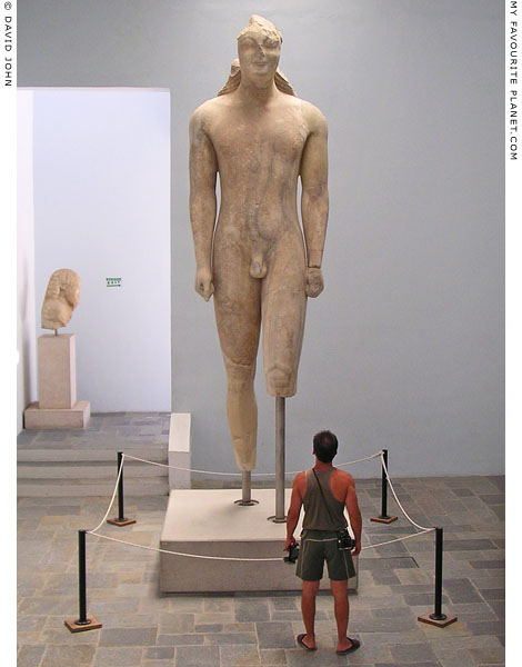 Colossal kouros statue in the Samos Archaeological Museum, Vathy, Samos island, Greece at My Favourite Planet