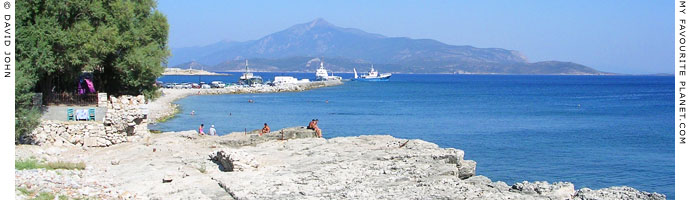The Bay of Pythagorio, Samos and the view of Mount Mykale on the west coast of Turkey at My Favourite Planet