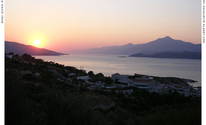 Sunrise on the Samos Strait at My Favourite Planet