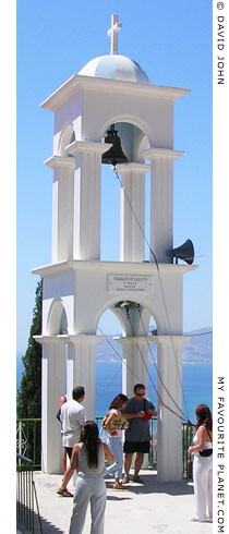 The bell tower of Panagia Spiliani Monastery, Pythagorio, Samos, Greece at My Favourite Planet