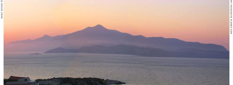 Panoramic view of Samsun Dagi (Mount Mykale) from Samos island, Greece at My Favourite Planet