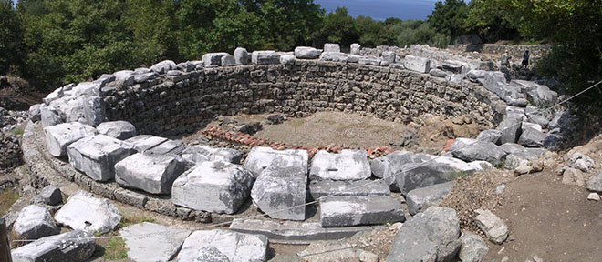 The Arsinoe Rotonda in the Sanctuary of the Great Gods, Samothraki, Greece at My Favourite Planet