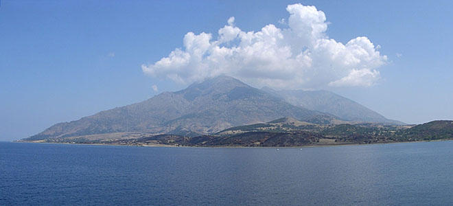 The 1611 metre high Mount Fengari, Samothraki island, Greece at My Favourite Planet
