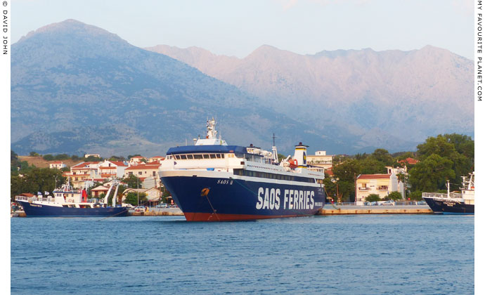 The SAOS II ferry in the harbour of Kamariotissa, Samothraki, Greece at My Favourite Planet
