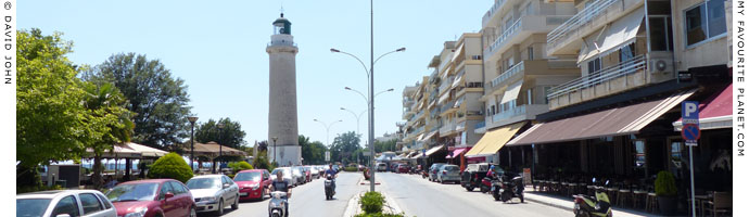 Basileos Alexandrou Street, seafront promenade of Alexandroupoli, Thrace, Greece at My Favourite Planet