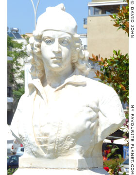 A bust of Themistocles-Timoleon Vizvizi in Alexandroupoli, Thrace, Greece at My Favourite Planet