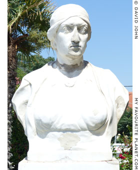 A bust of Domna Vizvizi in Alexandroupoli, Thrace, Greece at My Favourite Planet