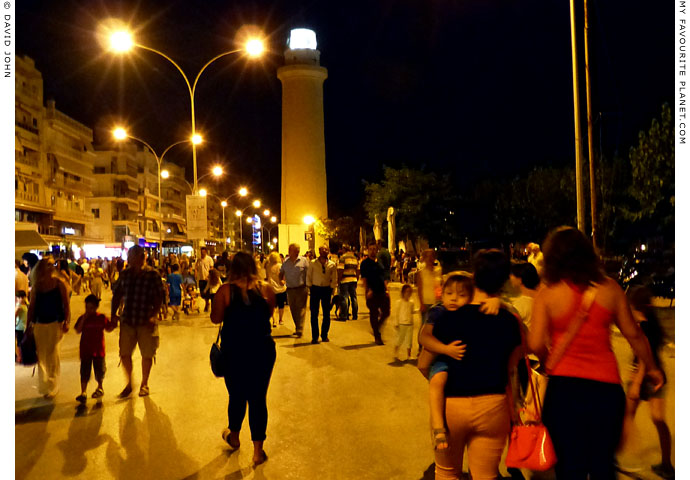 The evening volta along the seafront promenade of Alexandroupoli, Thrace, Greece at My Favourite Planet