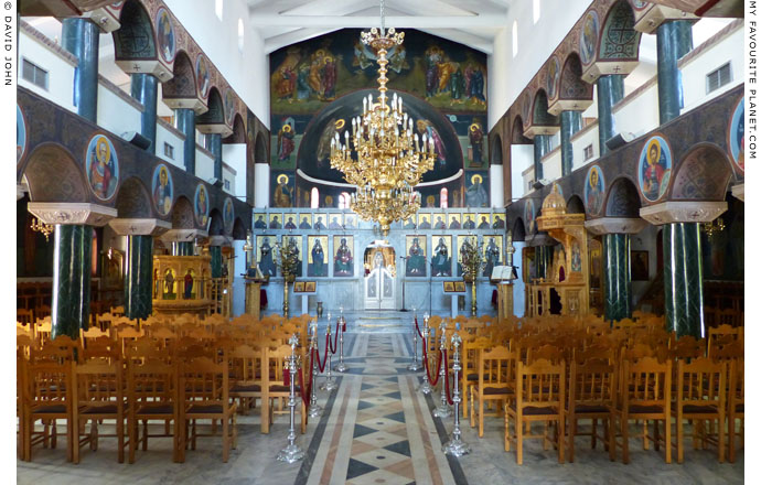 The interior of Agios Eleftherios church, Alexandroupoli, Thrace, Greece at My Favourite Planet