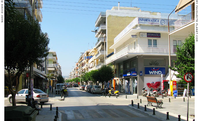 Odos Eleftheriou Venizelou in the centre of Alexandroupoli, Thrace, Greece at My Favourite Planet