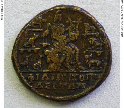 Orpheus on a bronze coin from Philippopolis, Thrace at My Favourite Planet