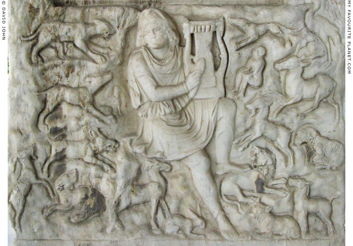 A relief of the Thracian bard Orpheus at My Favourite Planet