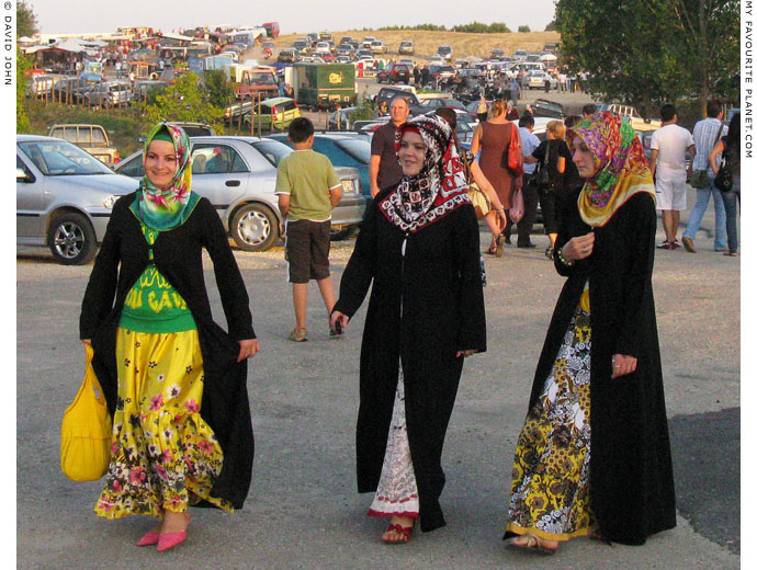 Young Muslim women at a country fair in Megalo Dereio, Thrace, Greece at My Favourite Planet