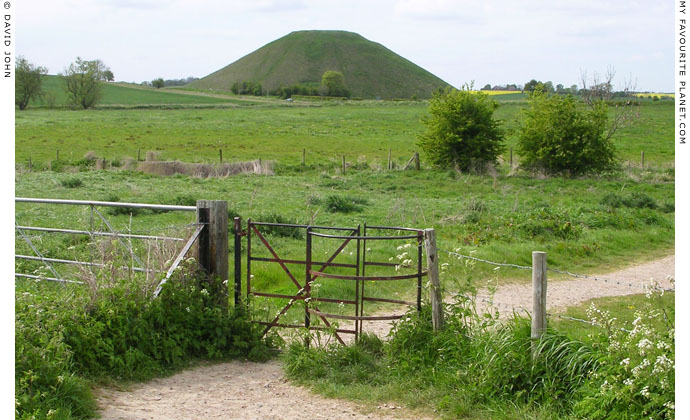 Silbury Hill, West Kennet, viewed from the stile near Swallowhead Springs, Avebury, Wiltshire at My Favourite Planet