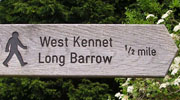 Signpost to West Kennet Long Barrow, Avebury, Wiltshire at My Favourite Planet