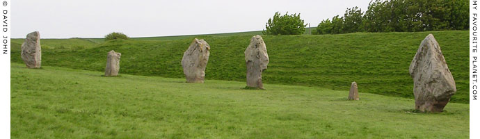 A row of megaliths of Avebury Henge, Wiltshire at My Favourite Planet