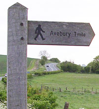 Footpath signpost, Silbury Hill, Wiltshire at My Favourite Planet