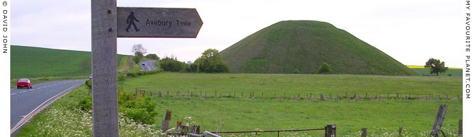 The A4 road passes to the south of Silbury Hill, Wiltshire at My Favourite Planet
