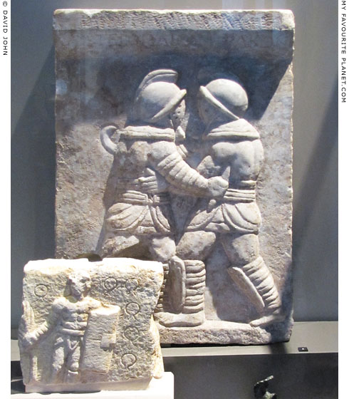 Relief of gladiatorial combat from Ephesus, Turkey at My Favourite Planet