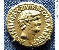 A dinar coin of Marcus Antonius from Ephesus at My Favourite Planet