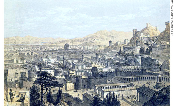 A reconstruction drawing of ancient Ephesus by Edward Falkener at My Favourite Planet