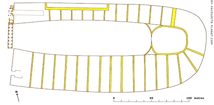 Plan of the Stadium in Ephesus at My Favourite Planet