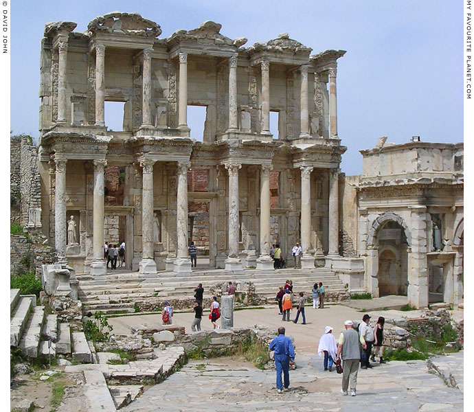The facade of the Library of Celsus, Ephesus, Turkey at My Favourite Planet