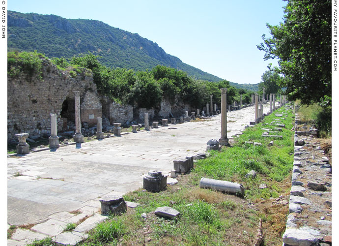 The view westwards along the Arcadian Way, Ephesus at My Favourite Planet
