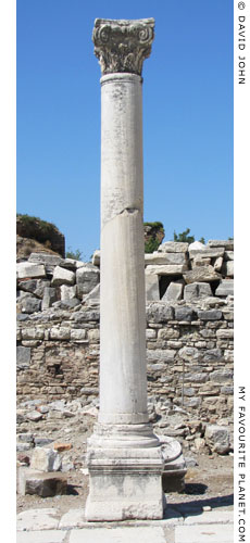 One of the colonnade columns along the Arcadian Way, Ephesus at My Favourite Planet